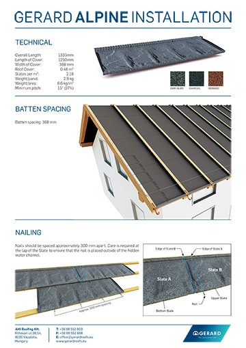 GERARD® ALPINE INSTALLATION GUIDE